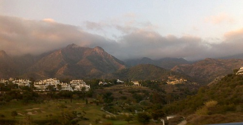 Heavy clouds over Marbella